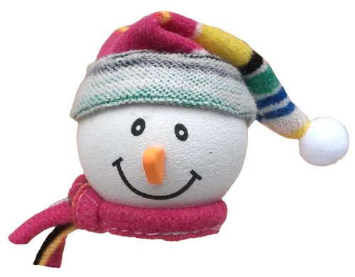 Tenna Tops - Snowman Winter Hat & Scarf Car Antenna Topper / Antenna Ball / Mirror Dangler Tenna Tops® TT_SnowmanWinterHatPink