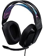 Logitech G335 Bedrade Gamingheadset, Flip-to-Mute-Microfoon, 3,5 mm Audio-Aansluiting, Traagschuim Oorkussens, Lichtgewicht, Compatible met PC, PlayStation, Xbox, Nintendo Switch - Zwart