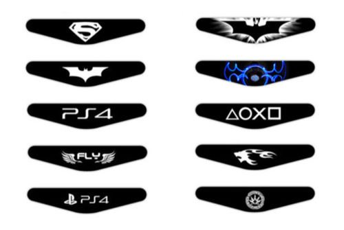 258stickers ps4 light bar decal stickers set of 10 different pcs save mozeypictures Gallery
