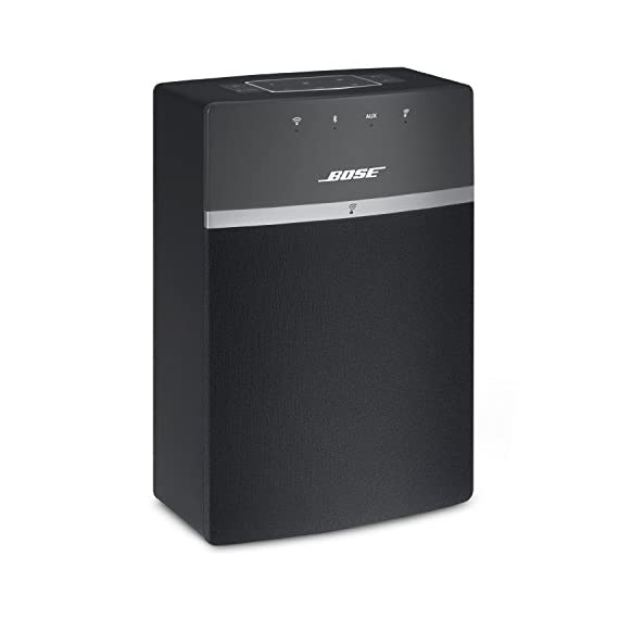 Bose SoundTouch 10 Wireless Music System - Black 1 Works with Alexa for voice control (Alexa device sold separately) The smallest one piece wireless speaker from Bose features delivers room filling sound;Instant Listening Works with your Wi Fi and Bluetooth devices to play music services like Amazon Music, Spotify, Internet radio stations and your stored music library