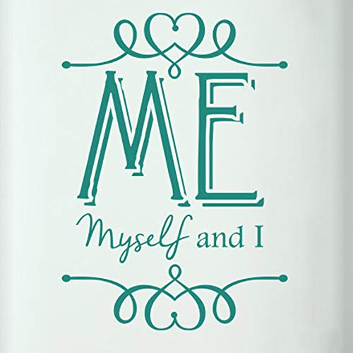 N.SunForest Me Myself and I Door Room Wall Sticker