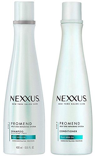 nexxus-promend-split-end-repairing-system-flax-seed-oil-concentrated-protein-shampoo-and-conditioner