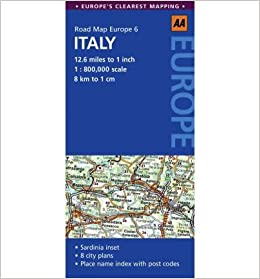 Clear Map Of Italy.Italy No 6 Aa Road Maps Europe Road Map Europe Sheet Map