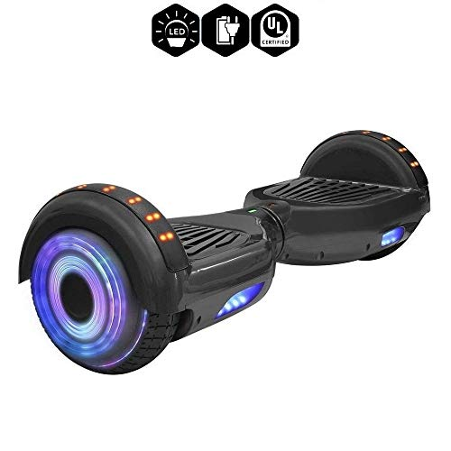 TPS 6.5″ Hoverboard Electric Self Balancing Scooter with Wireless Speaker and LED Lights for Kids and Adults – UL2272 Safety Certified