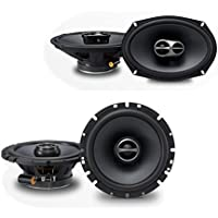Alpine SPS-610 6-1/2 2-Way Type-S Series Coaxial Car Speakers + Alpine SPS-619 6x9 Coaxial 3-Way Type-S Speaker Set.