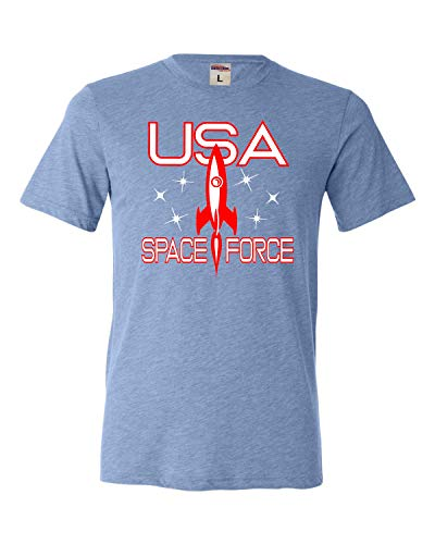 Force Adult T-shirt - Go All Out XX-Large Blue Adult USA Space Force Triblend T-Shirt