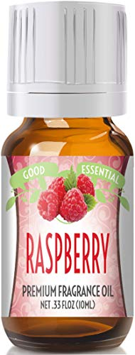 Raspberry Scented Oil by Good Essential (Premium Grade Fragrance Oil) - Perfect for Aromatherapy, Soaps, Candles, Slime, Lotions, and ()