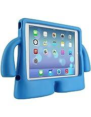 جراب مضاد للصدمات بمسند مع مقبض كرتوني للاطفال مناسب لاجهزة ايباد ميني 1 / 2 / 3 / 4 / 5 بلون ازرق من ايفا