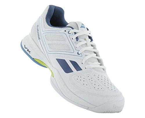 BABOLAT Pulsion BPM All Court Men's Tennis Shoe, White/Blue/Yellow, US10