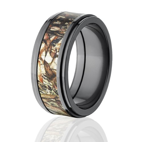 (Mossy Oak Rings, Camouflage Wedding Rings, Duck Blind Camo Bands)