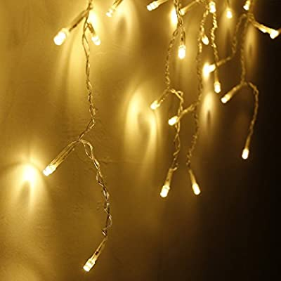 String Lights, OFTEN® 3.5M 96 LED Fairy Lights Curtain Icicle Starry String Lights for Indoor Outdoor Home Garden Christmas Xmas Party Club Wedding