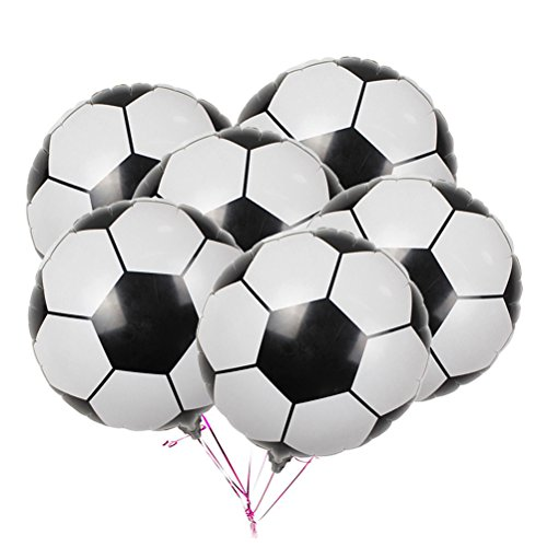 30-Pack Soccer Balloons Game Balloons Foil Mylar Aluminum Party Balloons for Birthday Party Decoration -