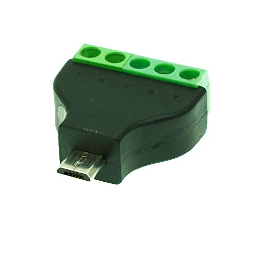 Davitu Connectors - 1pcs Micro USB male to screw connector USB plug with shield connector Micro male Jack Micro USB male to screw terminal block