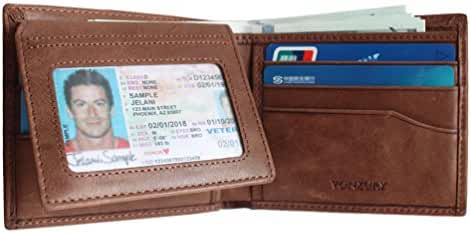 Premium Leather RFID Wallet for Men Bifold Soft Cowhide Leather Wallet with 8 Card Slots