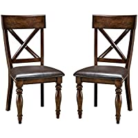 Imagio Home KG-CH-735C-RAI-RTA Kingston X-Back Side chair w/PU seat, Set of 2