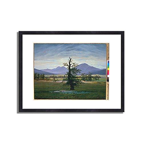 カスパーダヴィッドフリードリヒ「Der einsame Baum (Dorflandschaft bei Morgenbeleuchtung) (see also image number 1433. 1823. 」 インテリア アート 絵画 プリント 額装作品 フレーム:木製(黒) サイズ:XL (563mm X 745mm) B00NEDZ9TM 4.XL (563mm X 745mm)|3.フレーム:木製(黒) 3.フレーム:木製(黒) 4.XL (563mm X 745mm)