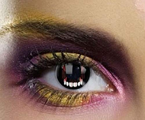 Cosplay Eyes Multi-Color Contact Lenses Cosplay Eyes Cute Colored Charm and Attractive Blends Cosmetic Makeup Eye Shadow (DRACULA TEETH) -