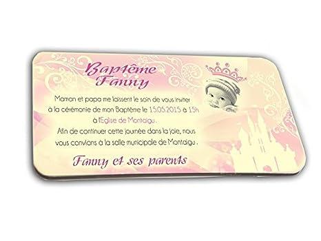 Tarjeta De Invitación En Chocolate Tema Princesa