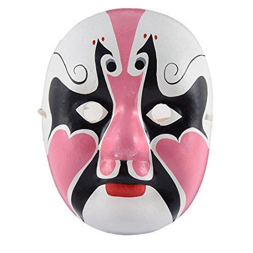 Festa de Halloween Plástico DealMux Cultura Chinesa Moda Ópera de Pequim da tração da mão Máscara ()