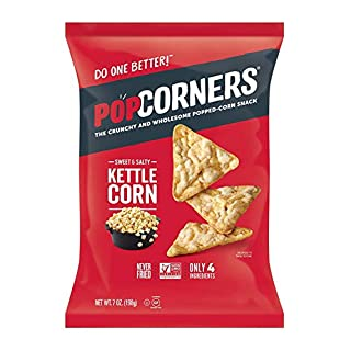 PopCorners Kettle Corn Snack | Gluten Free, Vegan Snack | (12 Pack, 7 oz Snack Bags)-SET OF 2