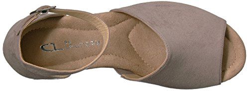 Chinese by Pebble Wedge Taupe Sandal CL Dara Suede Laundry Women's 5Bwvq