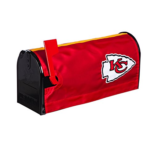 Ashley Gifts Customizable Embroidered Applique Fabric NFL Mailbox Cover, Kansas City Chiefs