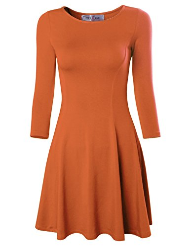 orange skater dress - 1