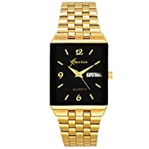 Rich Club RC-1847 Indian Gold Polish Metallic Analog Watch