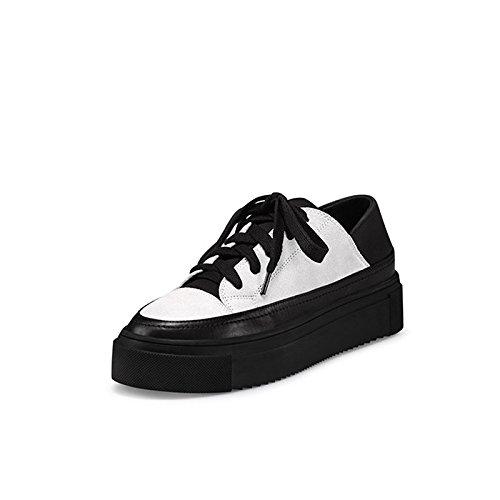 GTVERNH-Nueva Primavera Salon Zapatos Zapatos Deportivos De Mujer De Cabeza Redonda,Treinta Y Siete,Blanco