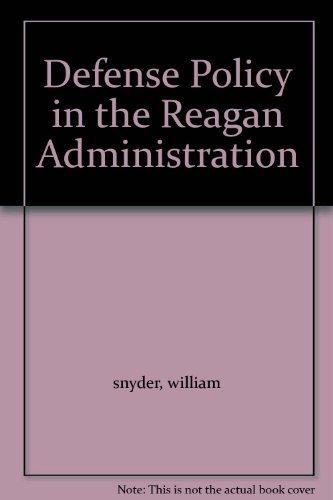 Defense Policy in the Reagan Administration pdf epub