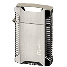 Legendex Picnicker Twin Torch Lighter 06-50-601 Silver satin