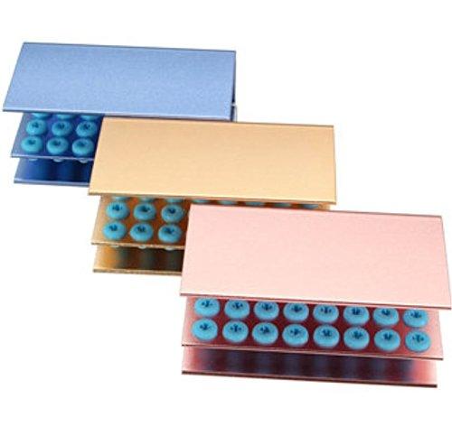 24 Holes Dental Burs Disinfection Holder Shelf Rack Anti Falling with Silicone by AdvancedShop (Blue) by AdvancedShop (Image #2)