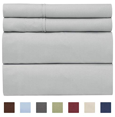 (100% Cotton Sheets - King Size Cotton Sheets - 400 Thread Count King Size Sheets - Long Staple King Cotton - 400 TC King Sheet Set - Organic Cotton bed Sheet Set - Pure Cotton King - High Thread Count)