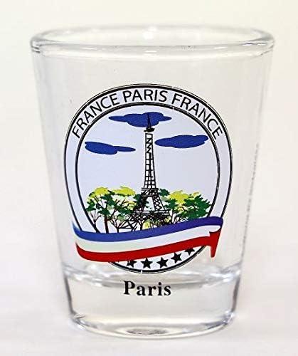 Paris France Color Landmarks Collage Shot Glass