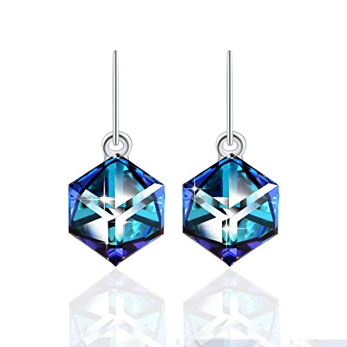 Change Color Earring PLATO H Ocean Blue Earring Drop Dangle Crystal Earring With Swarovski Crystal Woman Girls Fashion Jewelry