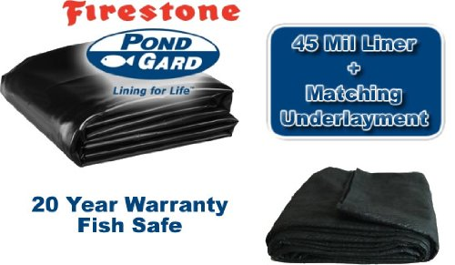 15 x 15 Firestone 45mil EPDM Pond Liner & Matching Underlayment Kit by Firestone
