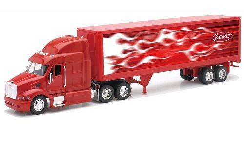Peterbilt 387 Container 1:32 Diecast Truck Red Tractor Trailer (Vehicle Trailer Tractor Diecast Peterbilt)