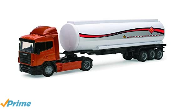 New Ray 15523B Scania R124/400 - Transportador de Petróleo: Amazon.es: Juguetes y juegos