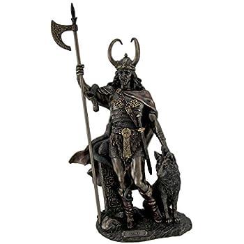 Zeckos Bronze Finish Loki Norse God Statue Sculpture
