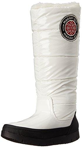 Madden Girl Womens Iggloo Snow Boot Bianco