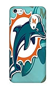 Blackducks Fashion Protective Miami Dolphins Hd Case Cover For Iphone 5c