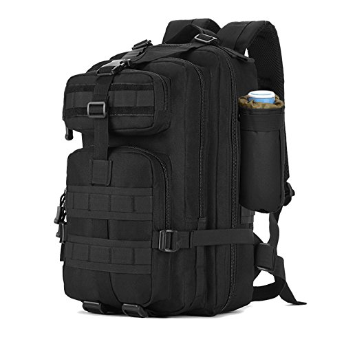 Zology Multifunctional Durable Large Capacity Backpack for Military Tactical Backpack,Hiking Backpack,Camping Backpack,Bug Out Bag and Get Home Bag (Black, 40L)