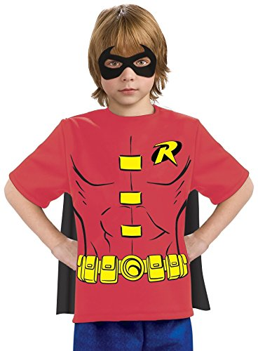 Robin Costume Design (Justice League Child's Robin 100% Cotton T-Shirt - Small)