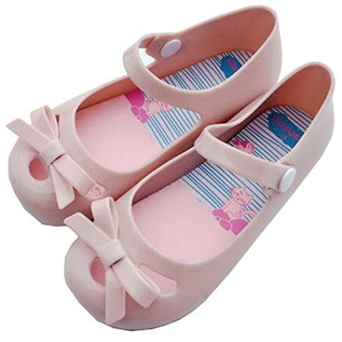 iFANS Girls Princess Cute Bow Jelly Shoes Toddler Kids Mary Jane Flats