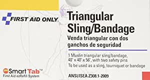 """First Aid Only 40"""" X 40"""" X 56"""" Triangular Sling/bandage With Safety Pins (Pack of 10)"""
