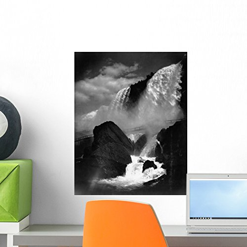 Wallmonkeys Niagara Falls from the Cave of the Winds Wall Decal Peel and Stick Graphic WM300668 (18 in H x 14 in W) (Cave Of The Winds Niagara Falls New York)