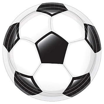 Amazon.com: Portería de fútbol fiesta de cumpleaños redondo ...