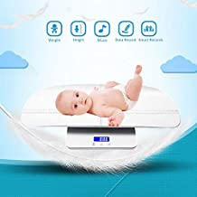 Multifunctional Digital Baby Scales accurately Measure Baby/Infant/Toddler/Adult Weight, up to 220 pounds (lbs) Capacity, Precision 10g, Height Measurement Range 46-60cm (White)