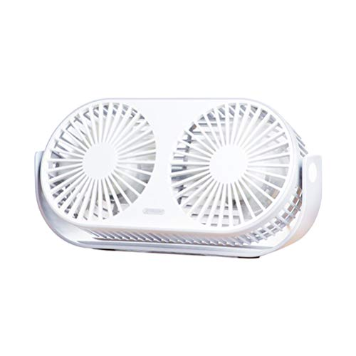 Engine Mosquito Twin (KSWD Desk Fan Twin Engine USB Powered, Silent Quiet Mini Portable 3 Speed Rotatable Office Bedroom Aromatherapy Function 230×49×115mm,White)
