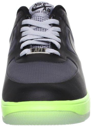 Lunar Force 1 fusibile di pelle - grigio scuro / nero-flash Lime, 8.5 D Us Dark Grey / Black-Flash Lime